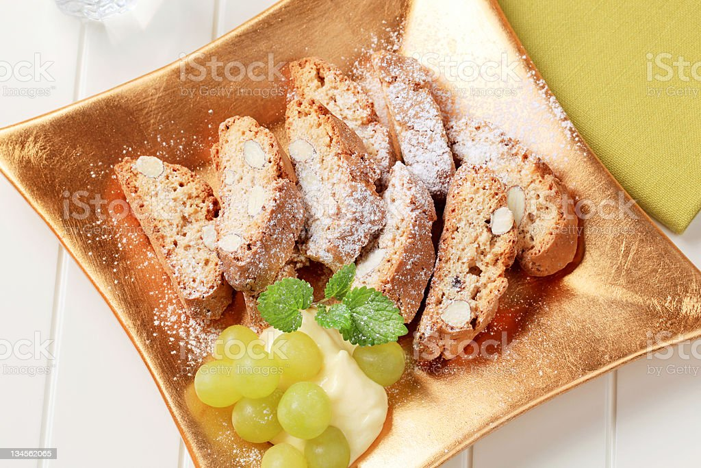 Italian biscotti royalty-free stock photo