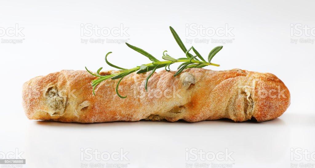 그린 올리브와 이탈리아 빵 - 로열티 프리 0명 스톡 사진