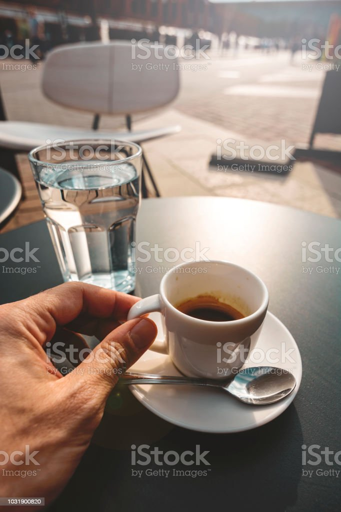 Italienisches Frühstück Mit Espresso Für Start In Den Tag