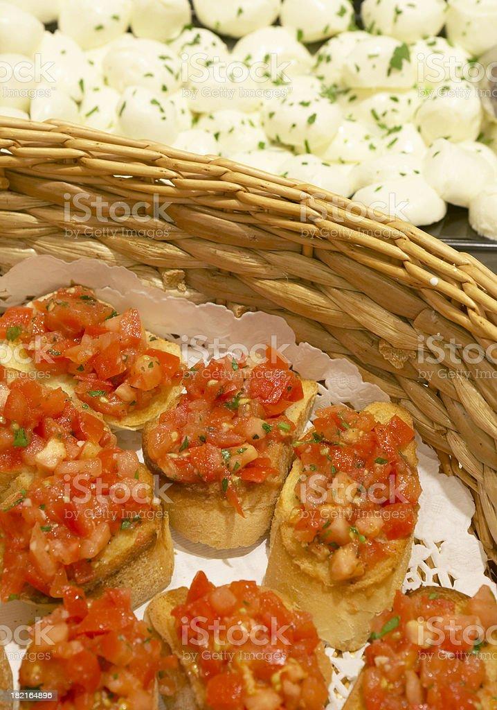 italian bruscetta stock photo