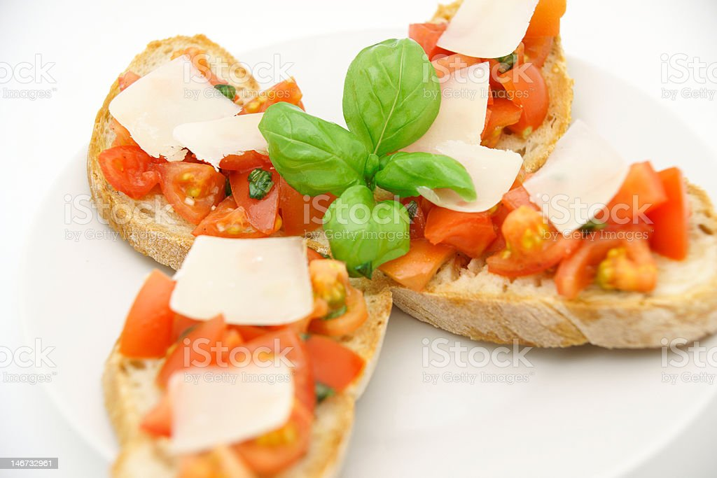 Italian Bruschetta (Brushetta) royalty-free stock photo