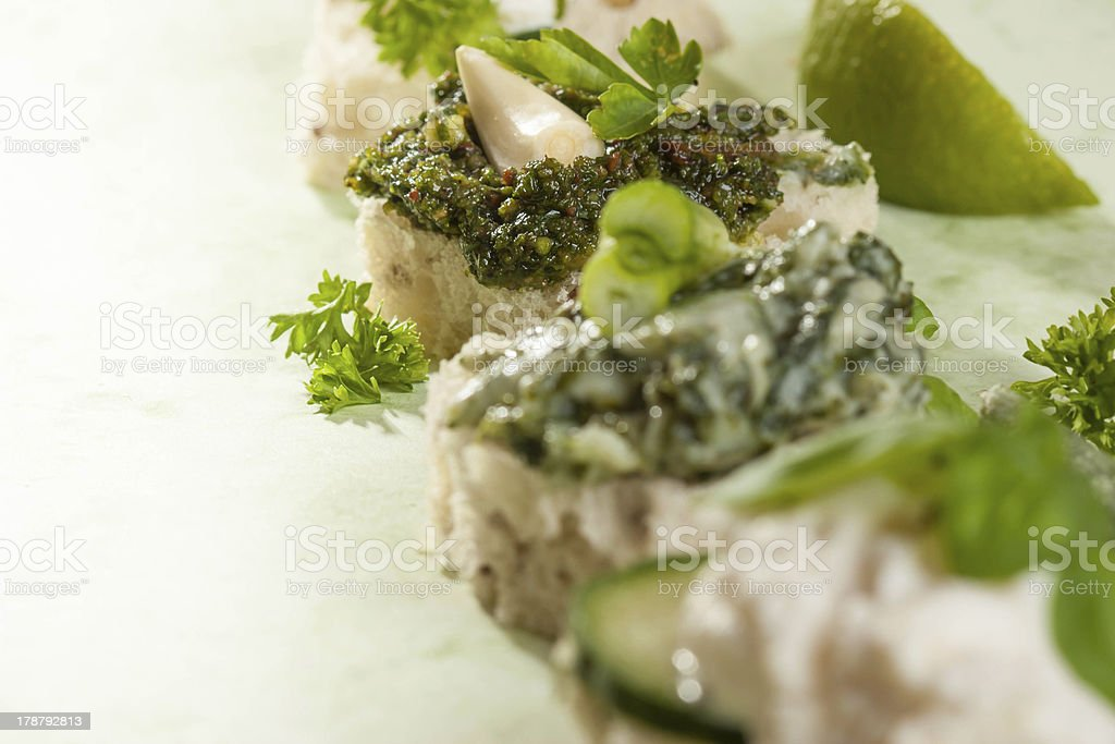 Italian Bruschetta royalty-free stock photo