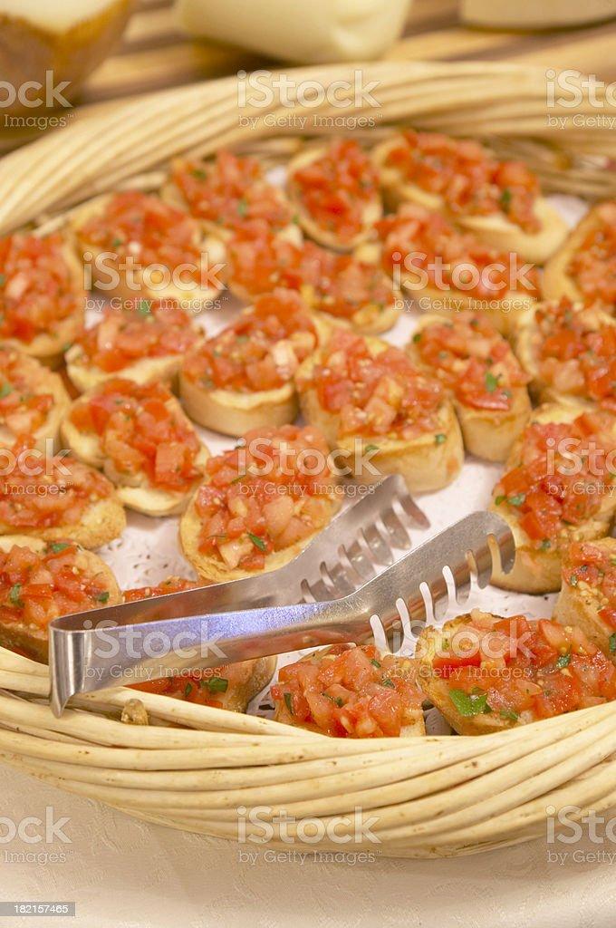italian bruschetta royalty-free stock photo