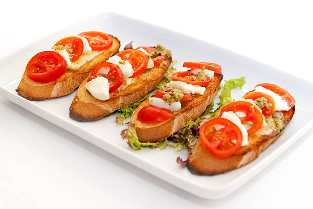 italian bruschetta. stock photo