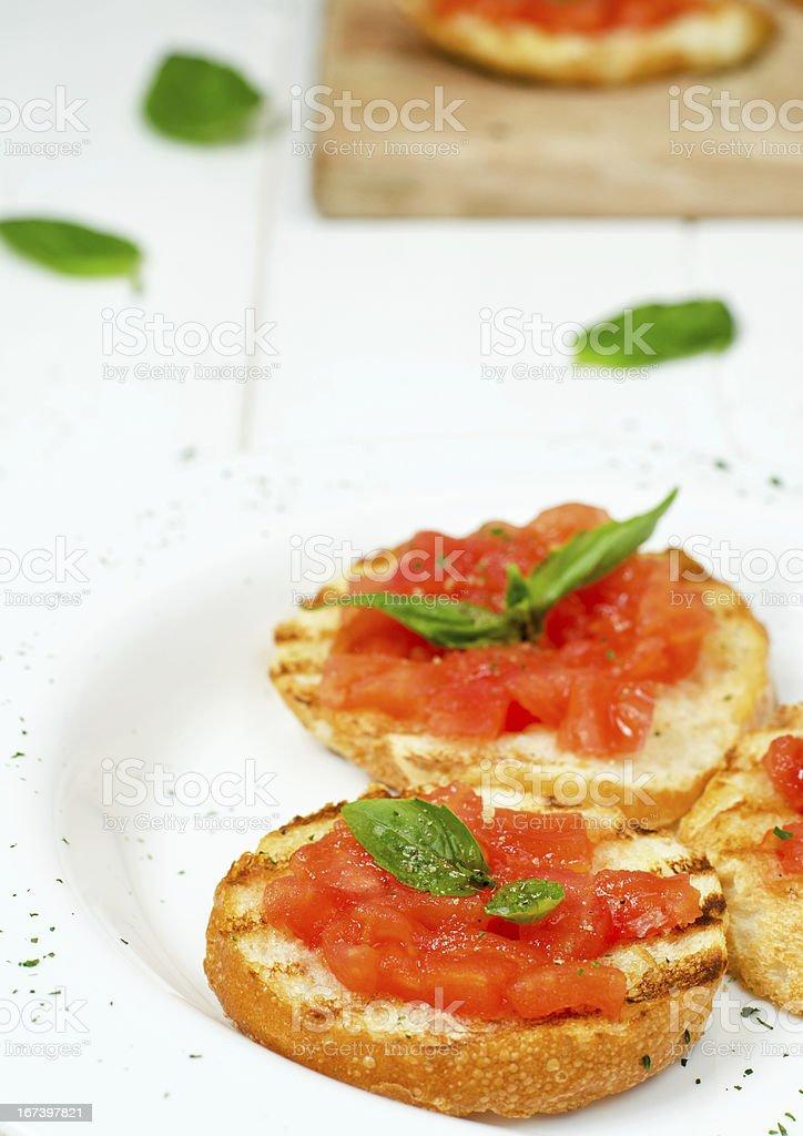 Italian bruschette royalty-free stock photo