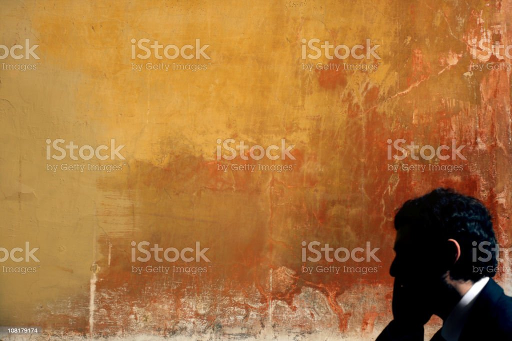 Italian businessman talking on cellphone royalty-free stock photo