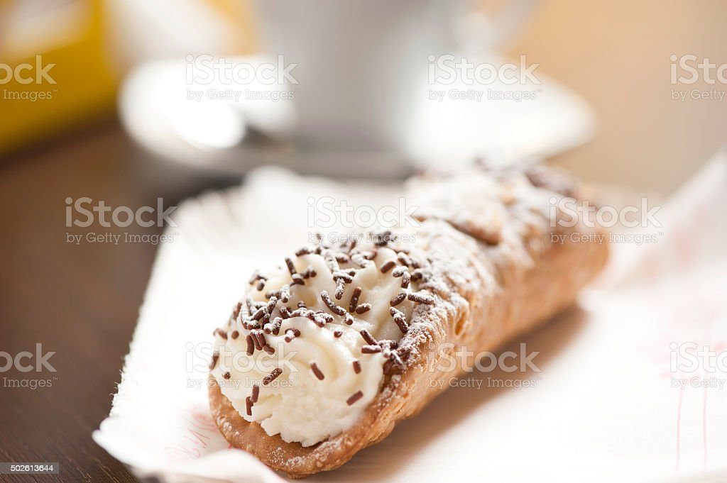 Italian Cannoli stock photo