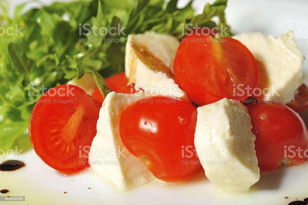 Italian caprese salad royalty-free stock photo