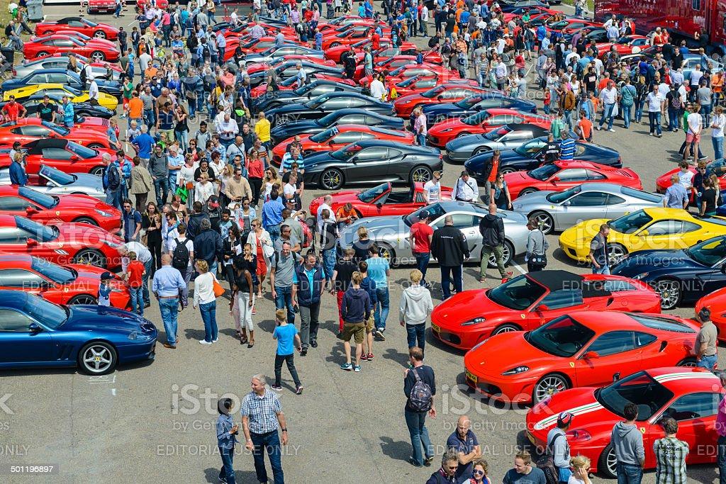 Italian car event stock photo