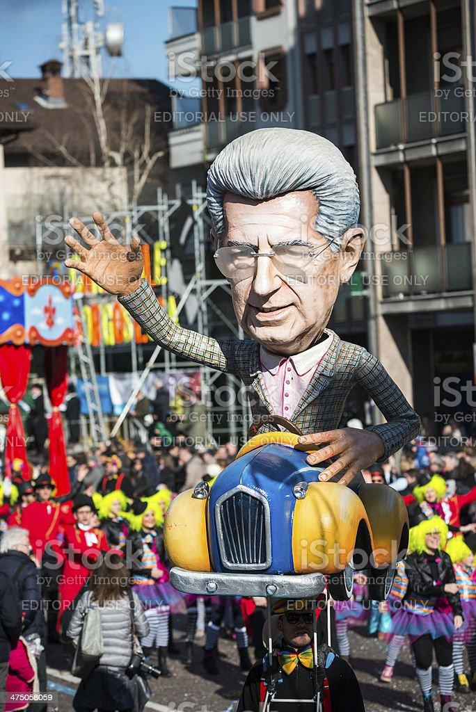 Italiano parata di Carnevale in piccole città - foto stock