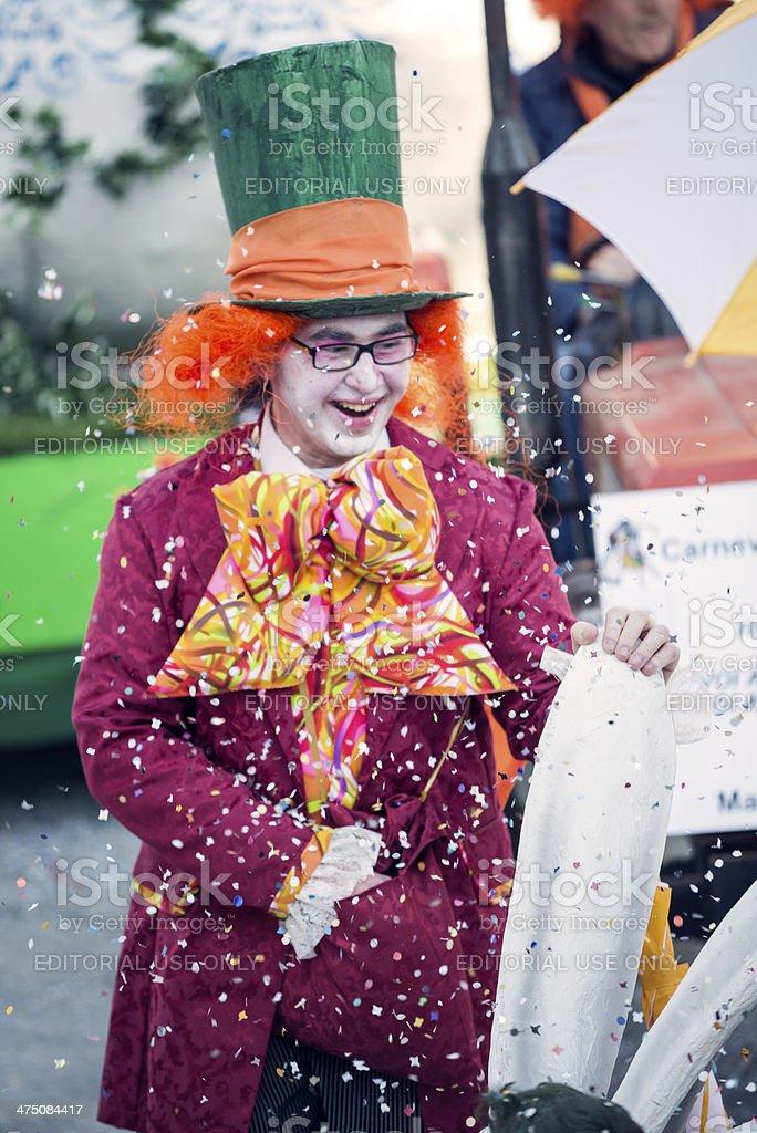 Italian Carnival celebration parade in small town royalty-free stock photo