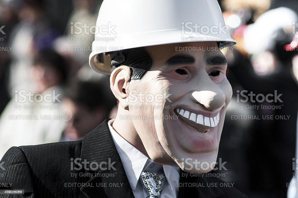 Italiano Carnevale maschera richiamano Silvio Berlusconi - foto stock