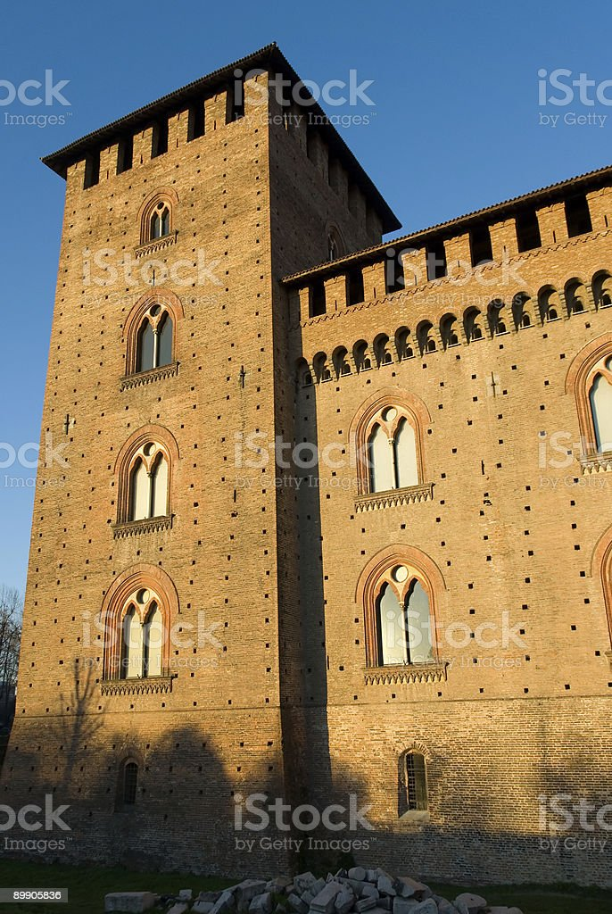 Italienische castle Lizenzfreies stock-foto