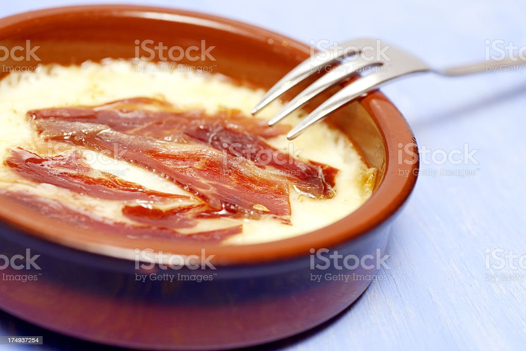 Italian Cheese, provolone, with ham royalty-free stock photo
