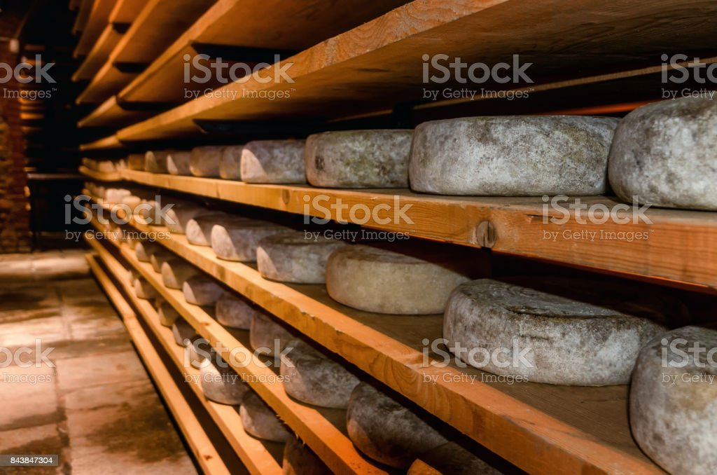italian cheese seasoning in a cellar stock photo