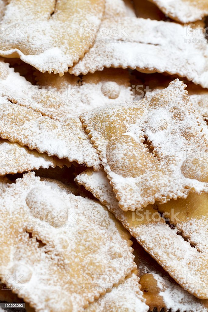 Italian Chiacchiere or Frappe , Galani royalty-free stock photo