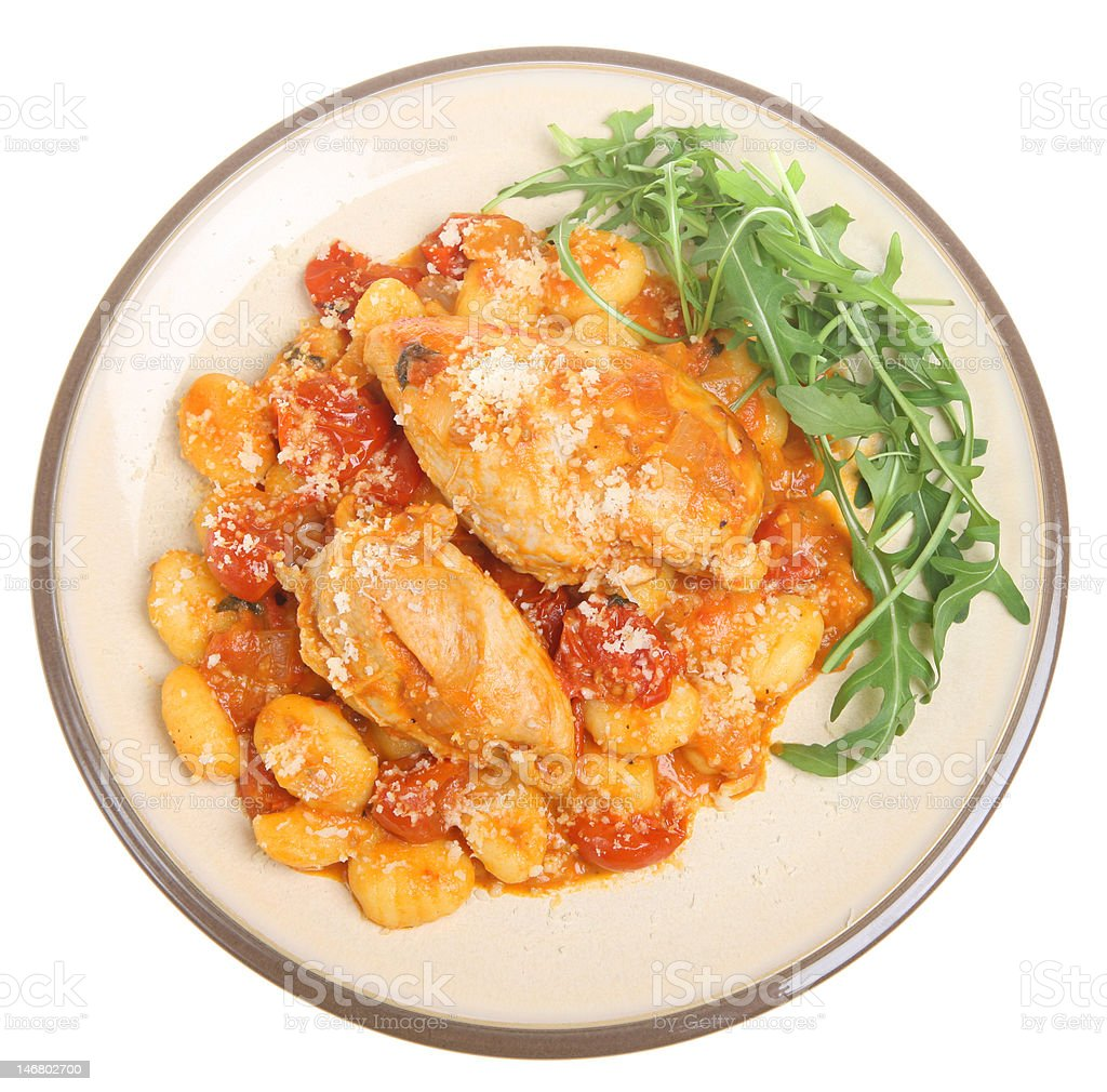Italian Chicken Cacciatore with Gnocchi royalty-free stock photo