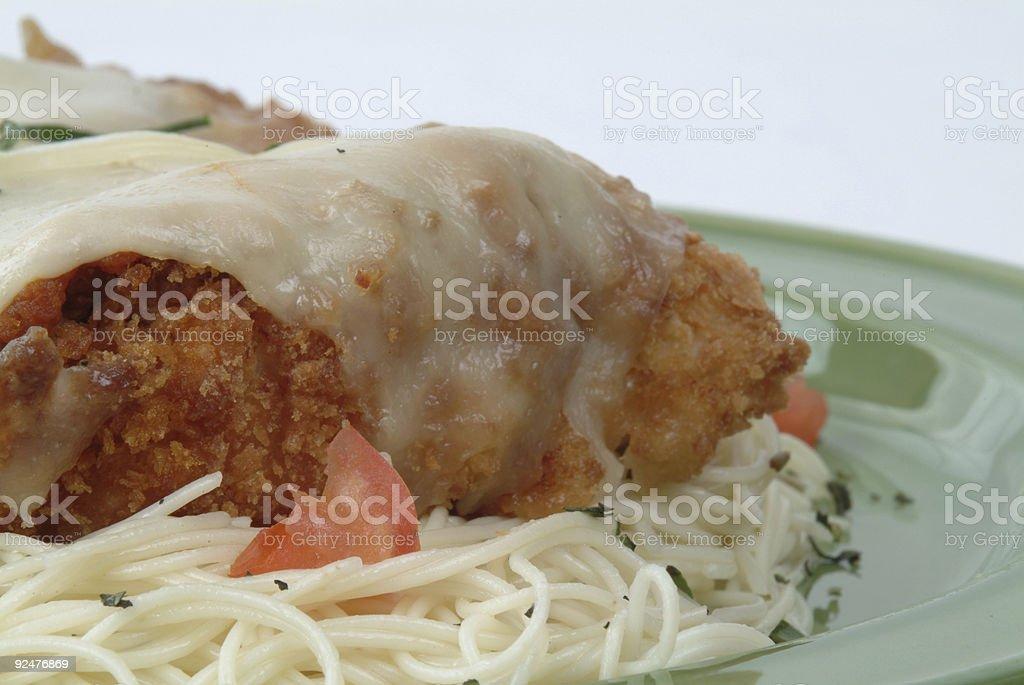 Italian Chicken Pasta Close Up royalty-free stock photo