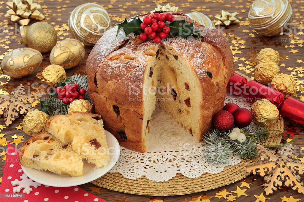 Italian Christmas Cake stock photo