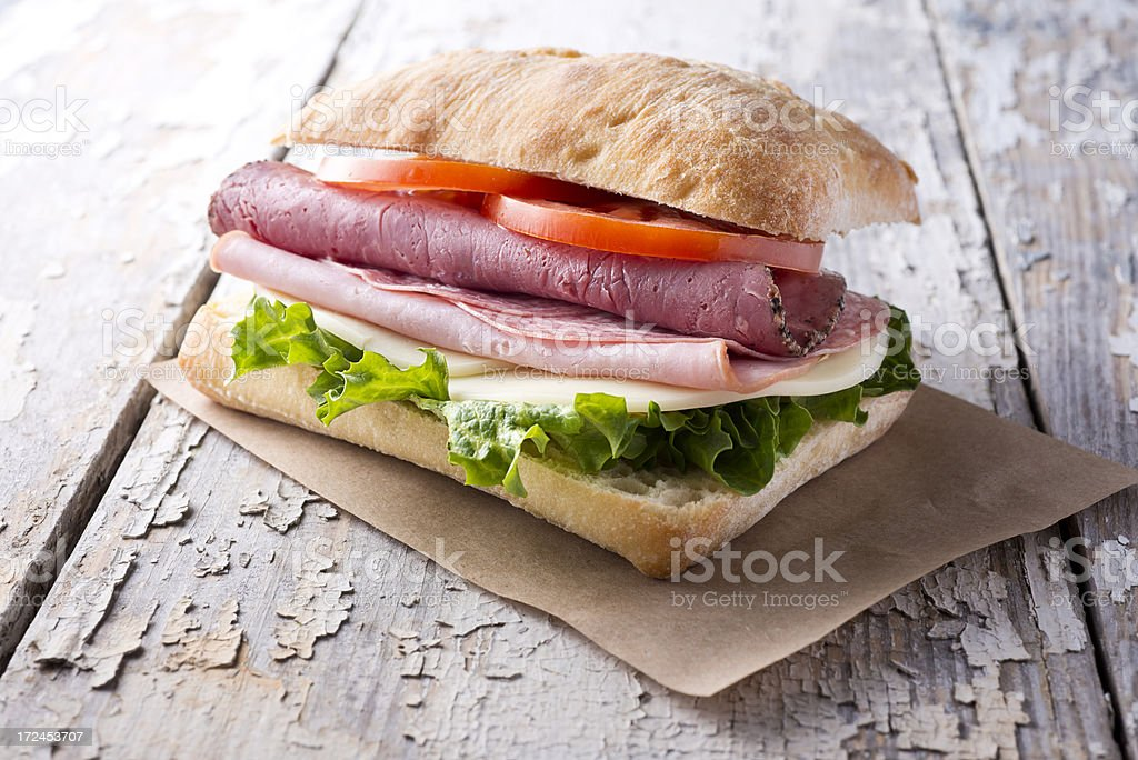 Italian Ciabatta Sandwich stock photo