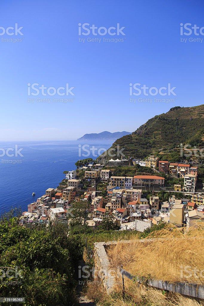 Italian coast (Cinque Terre) royalty-free stock photo
