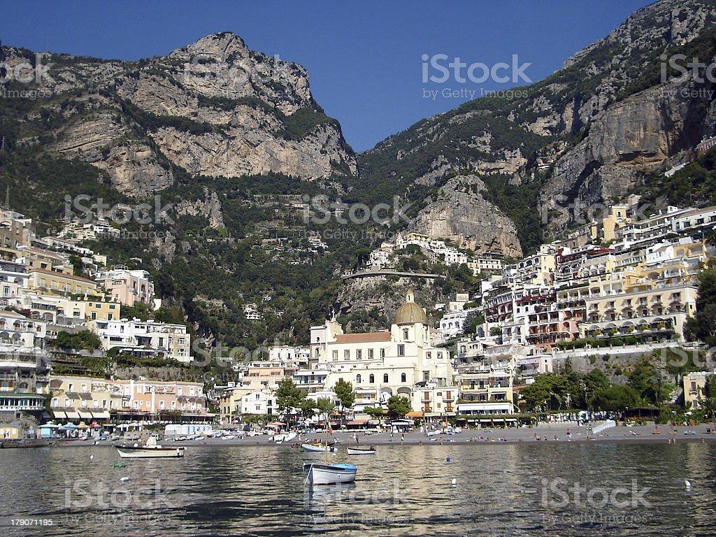 Italian coastal town in Amalfi coast stock photo