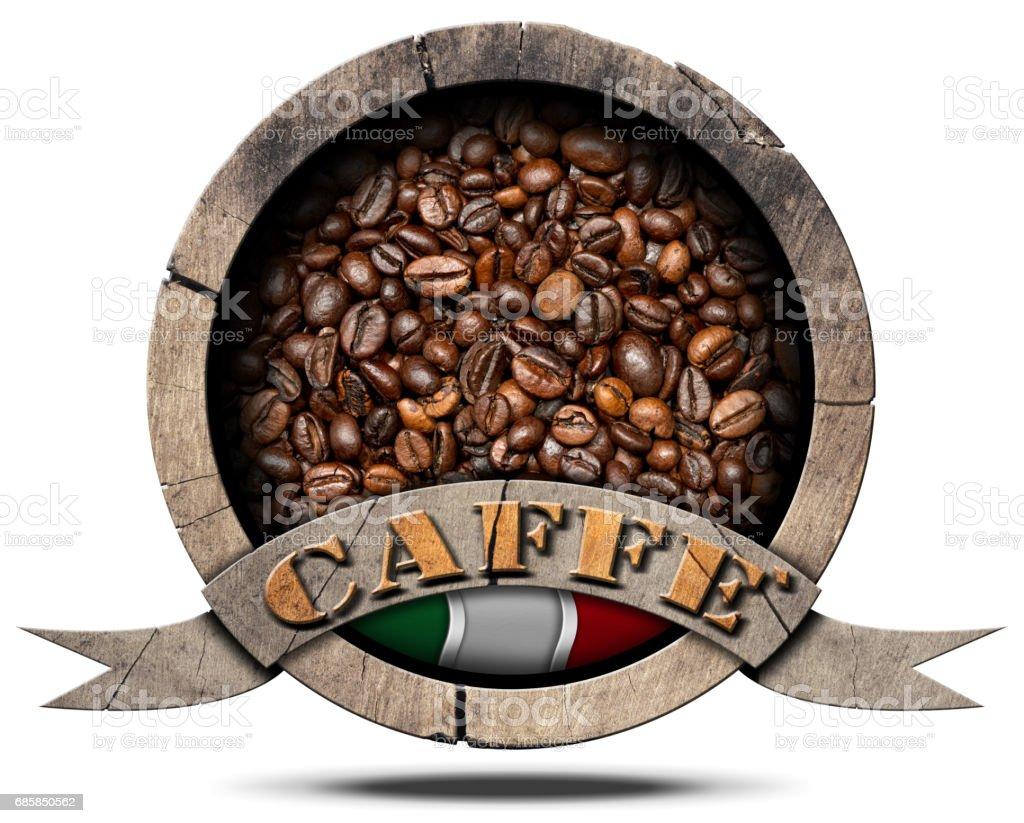 Italian Coffee Symbol - Caffe Italiano stock photo