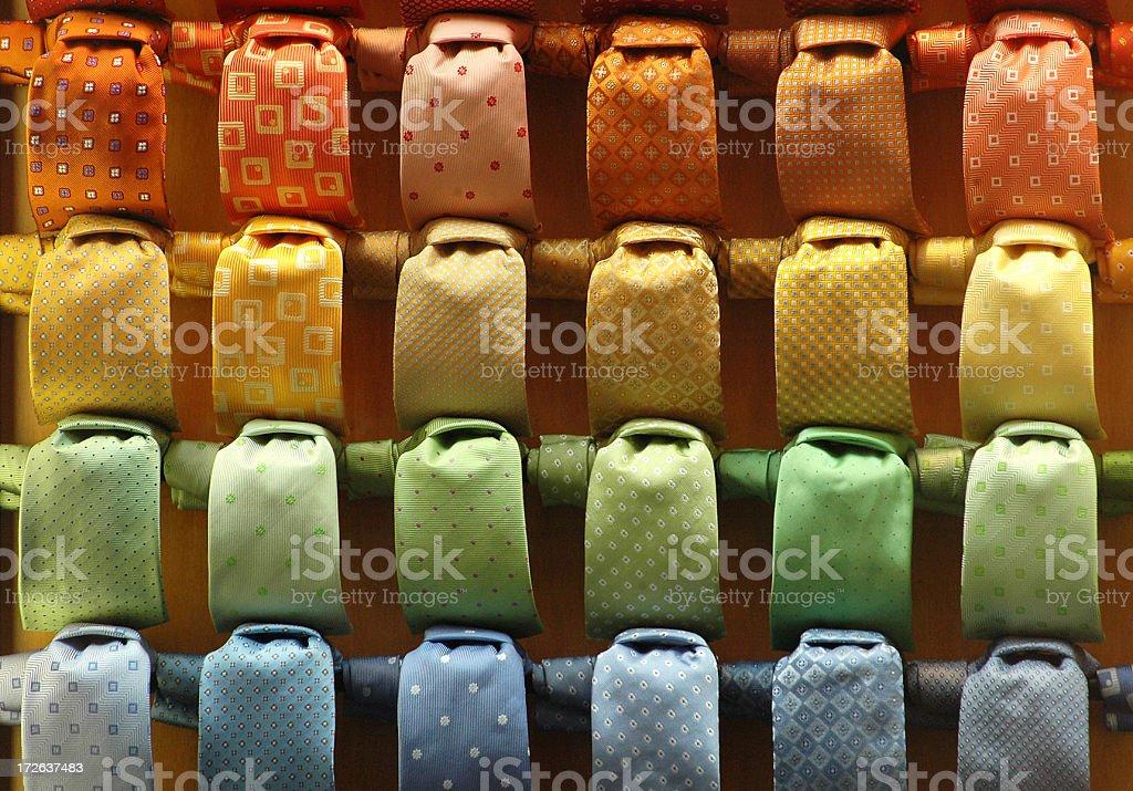 italian coloured ties royalty-free stock photo
