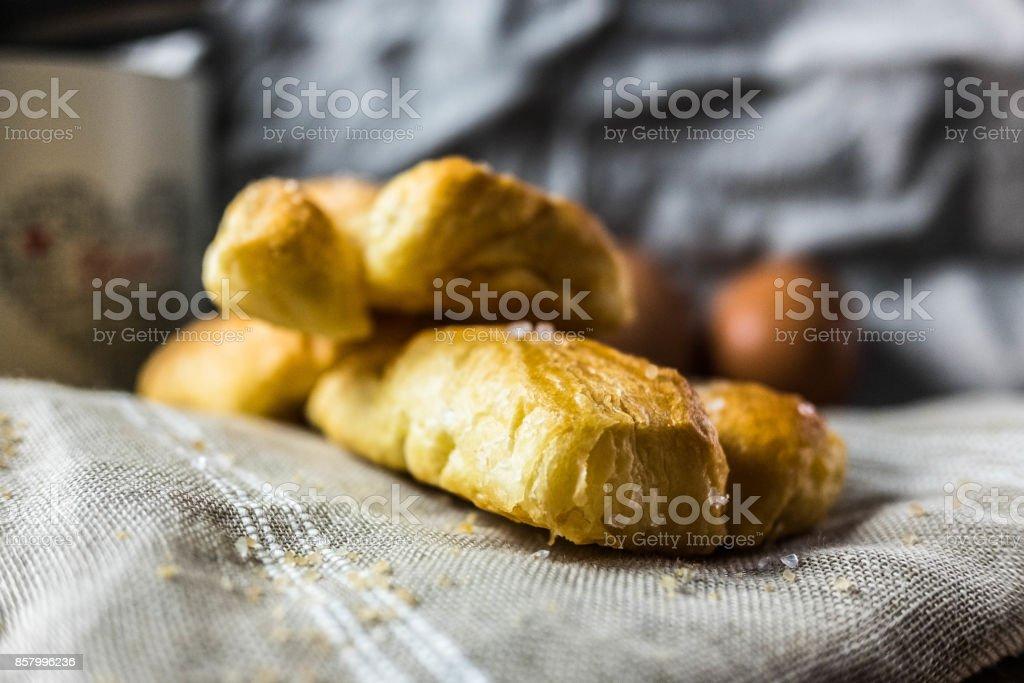 Italian commercial sweet rolls stock photo