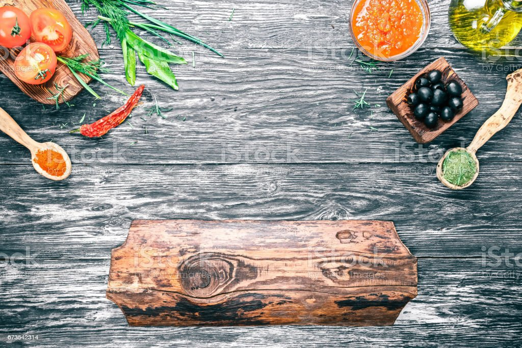 Italian cooking frame royalty-free stock photo