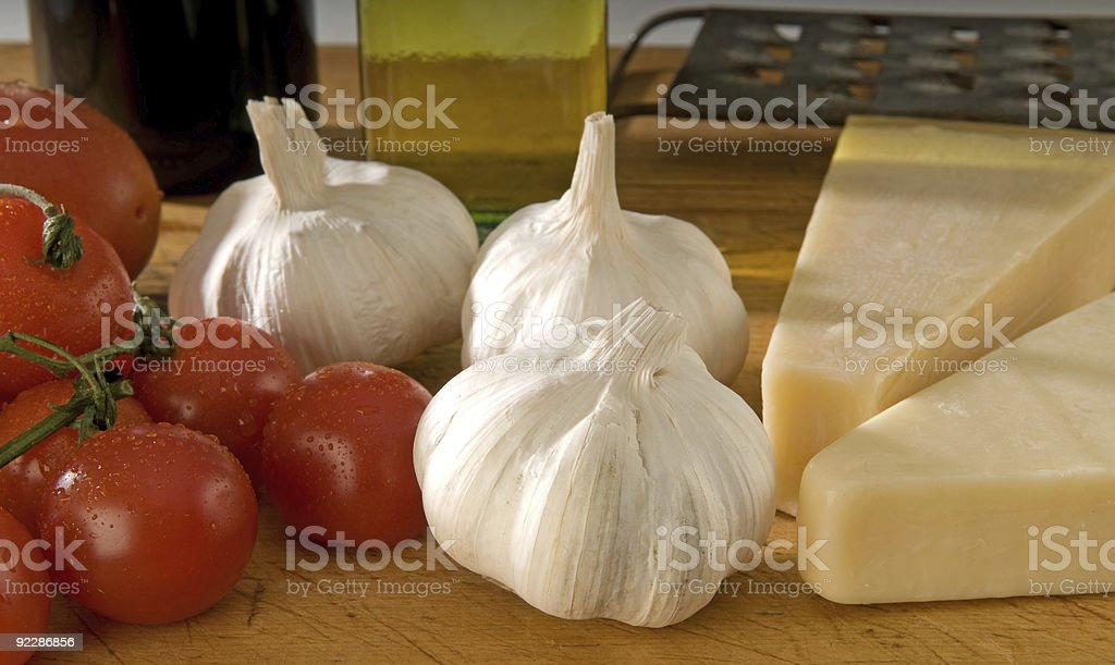 Italian cooking ingredients royalty-free stock photo