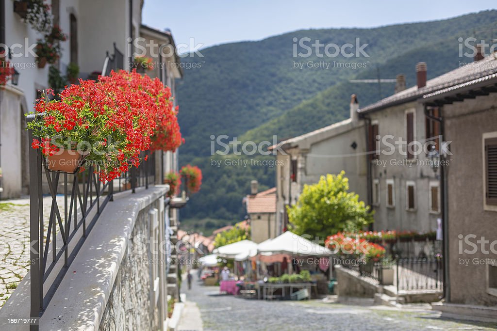 Italian country in Abruzzo royalty-free stock photo