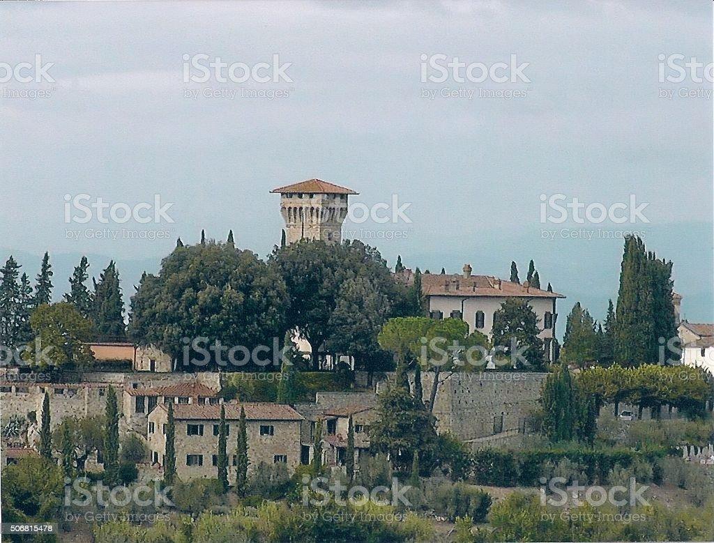 Italian Countryside in Tuscany stock photo