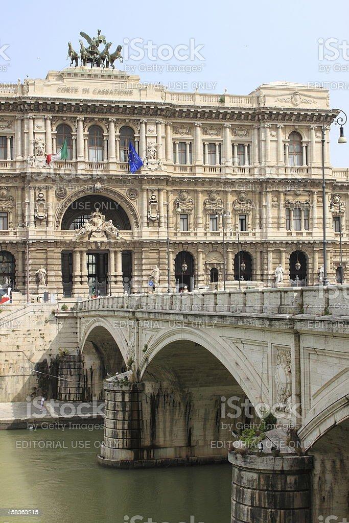 Italian Court of Cassation Palace stock photo