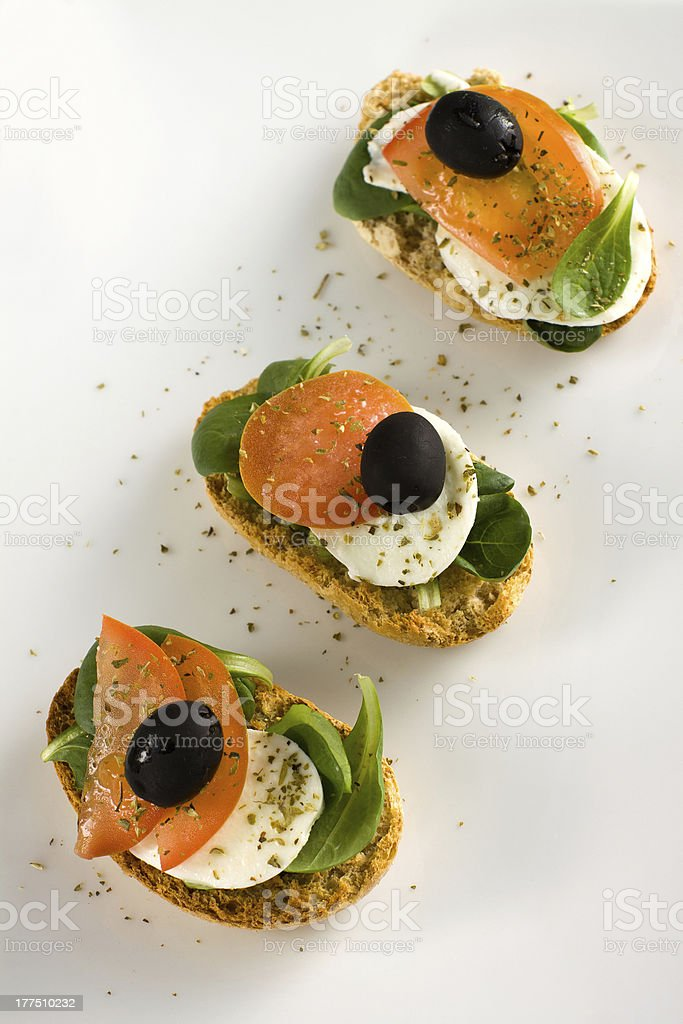 Italian croutons - Crostini alla italiana royalty-free stock photo