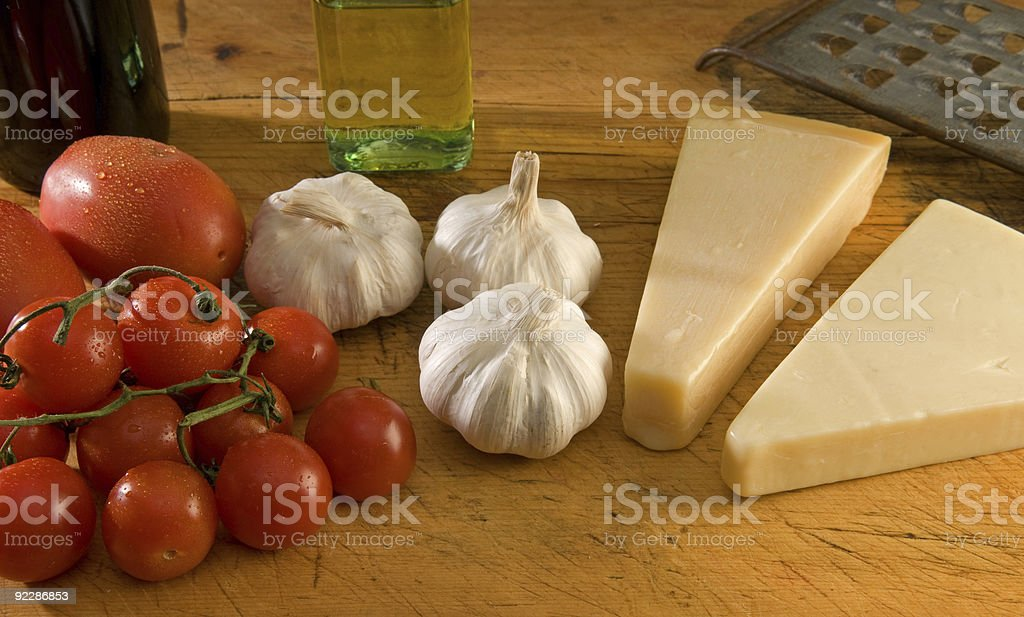 Italian cuisine cooking ingredients stock photo