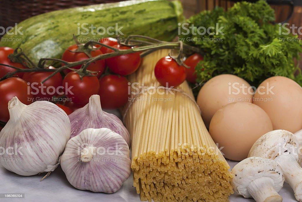 Italian cuisine ingredients royalty-free stock photo