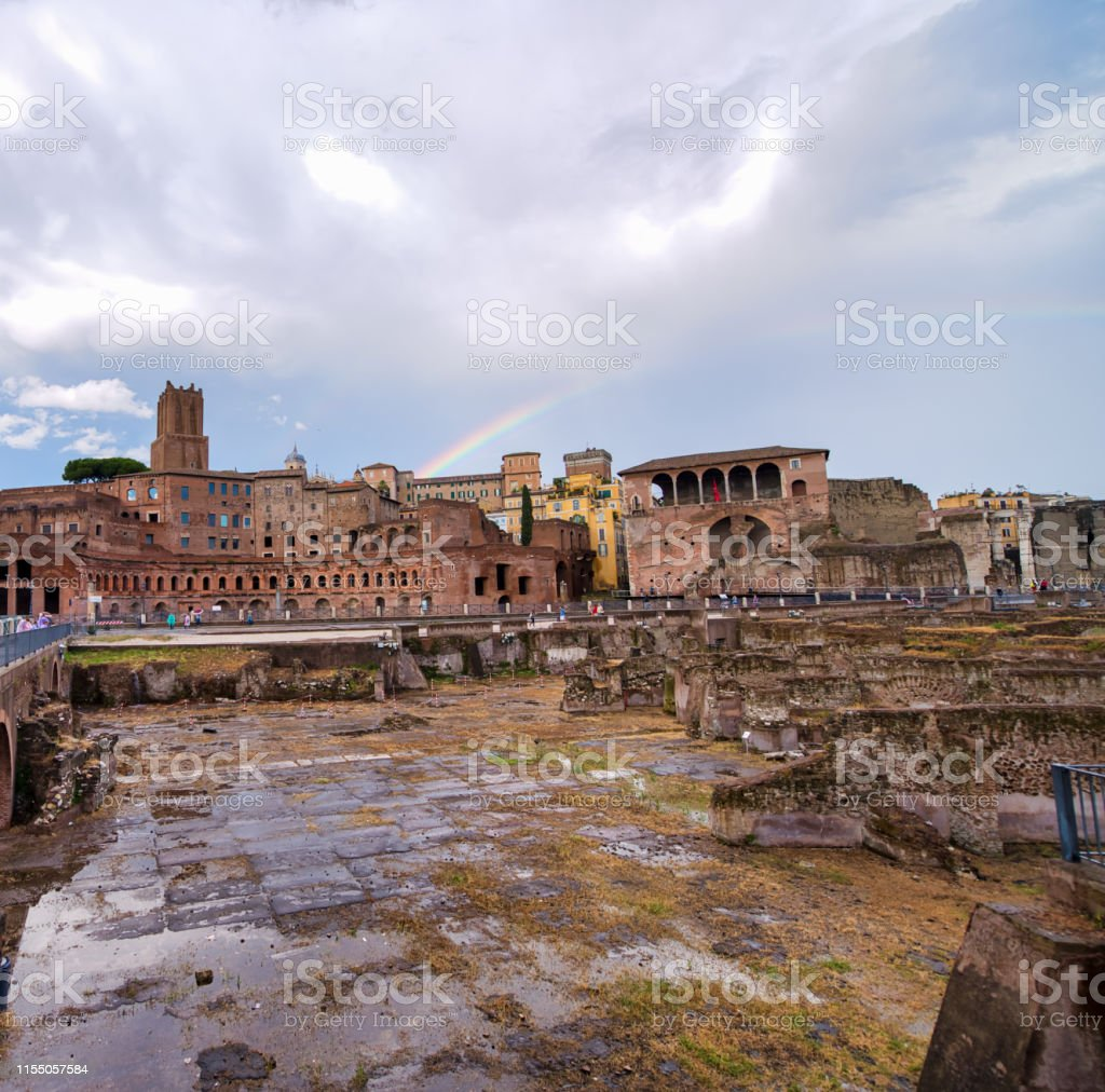 Italian Culture. Imperial Forums in Rome, Italy.