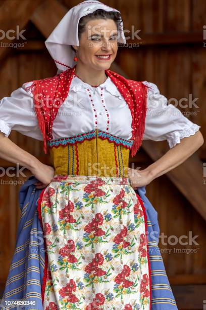 Italian dancer from Mexico in traditional costume