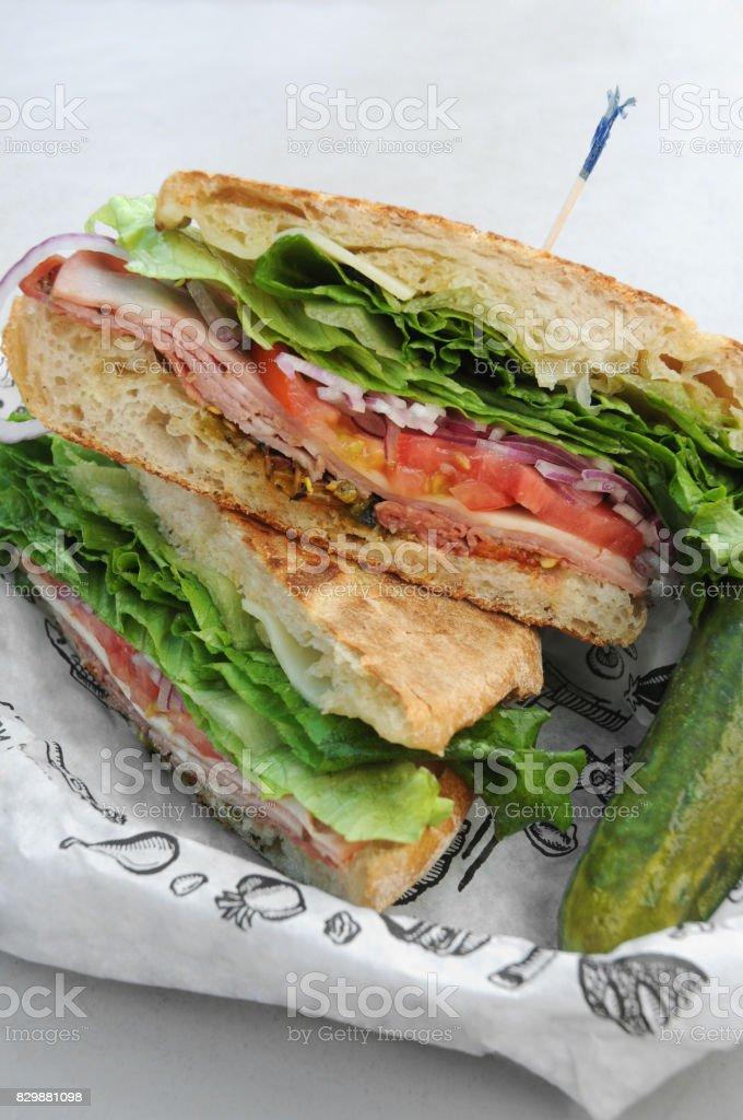 Italian Deli Sandwich stock photo