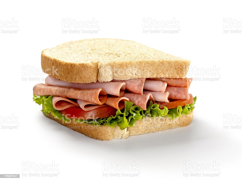 Italian Deli Sandwich with Lettuce and Tomato royalty-free stock photo