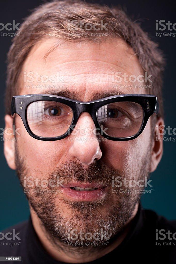 Italian Designer with Retro Eyeglasses stock photo