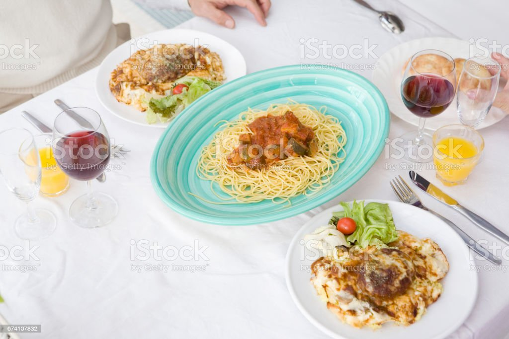 Italian dining royalty-free stock photo