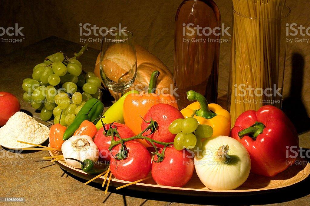 Italian Dinner royalty-free stock photo