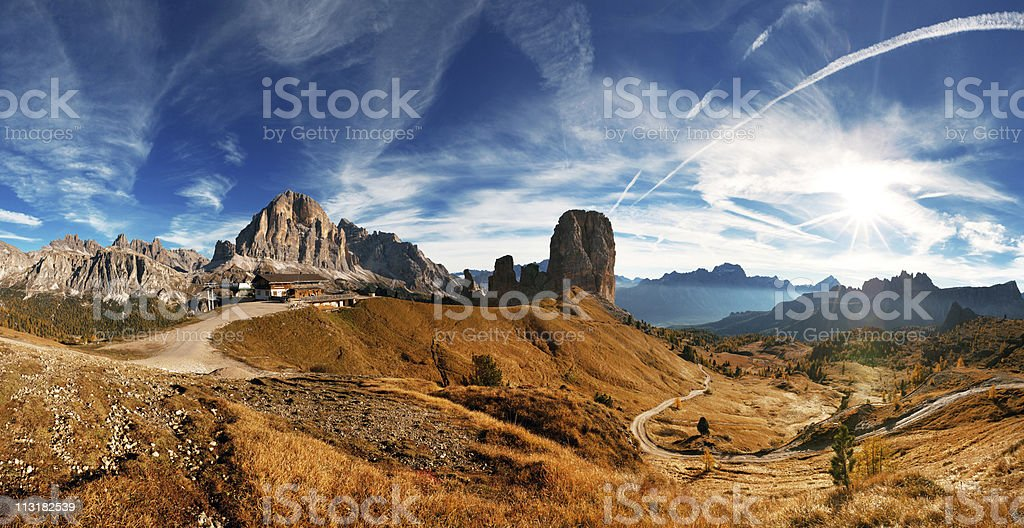 Italian Dolomiti - nice pamoramic view royalty-free stock photo