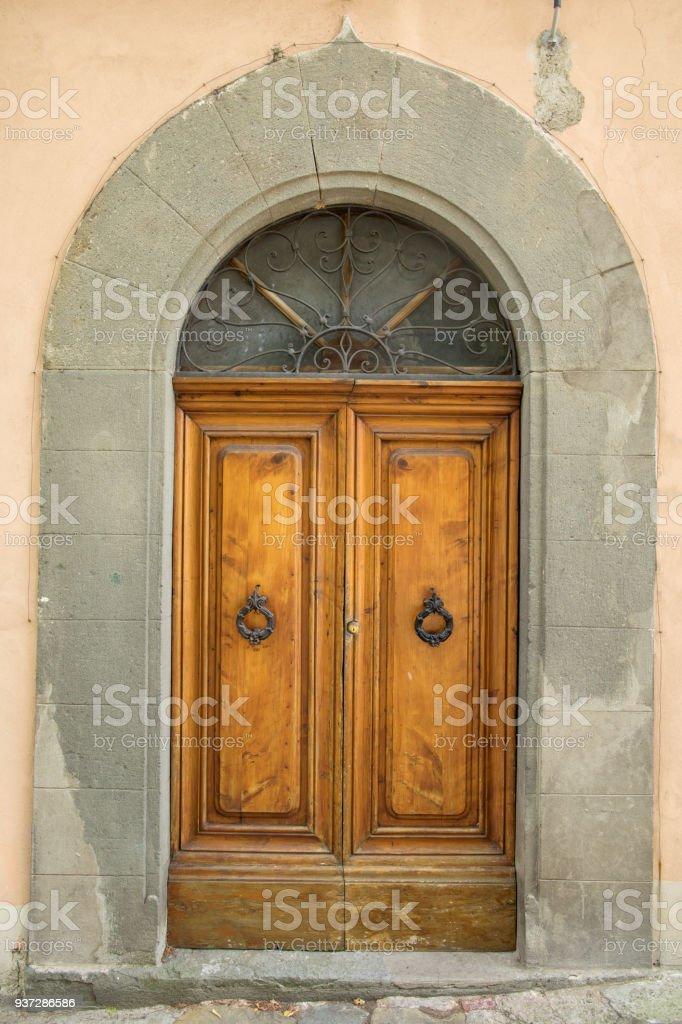 Italian Door In Small Village Royalty Free Stock Photo