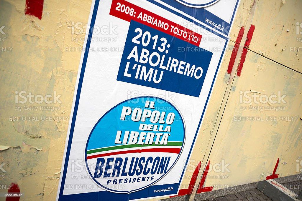 Elezioni italiane 2013: Partiti politici cartelloni - foto stock