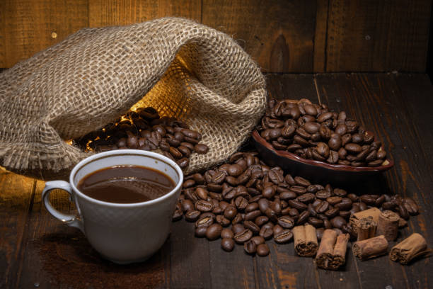 Italienischer Espresso und Zimt – Foto