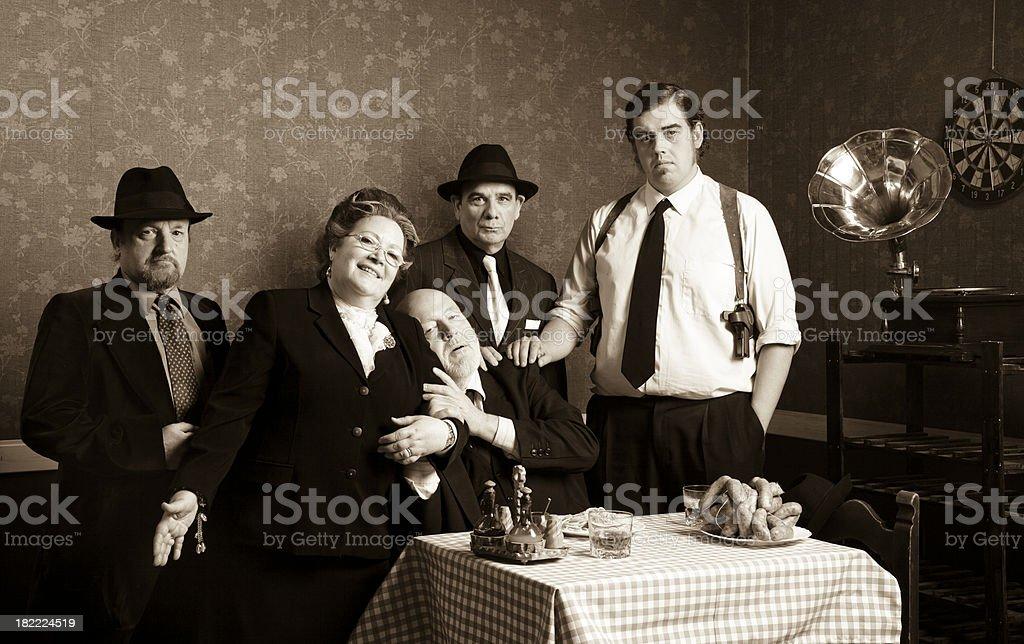 Italian family stock photo