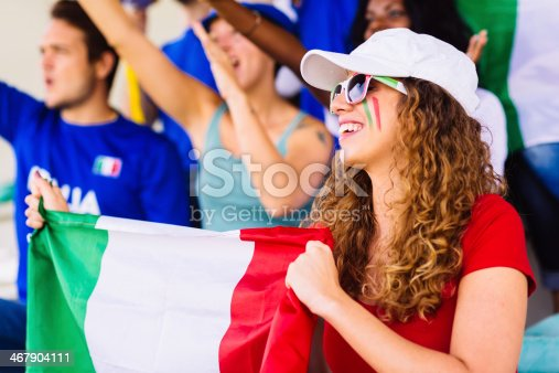 537894724 istock photo italian female suppporter at stadium 467904111